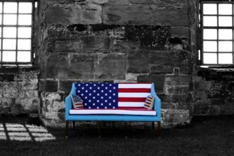 United States Of America Flag Sofa