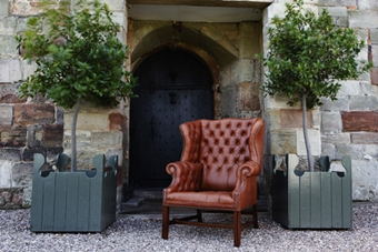 Leather Gentleman's Wing Chair